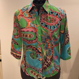 Lily Pulitzer blouse size 4